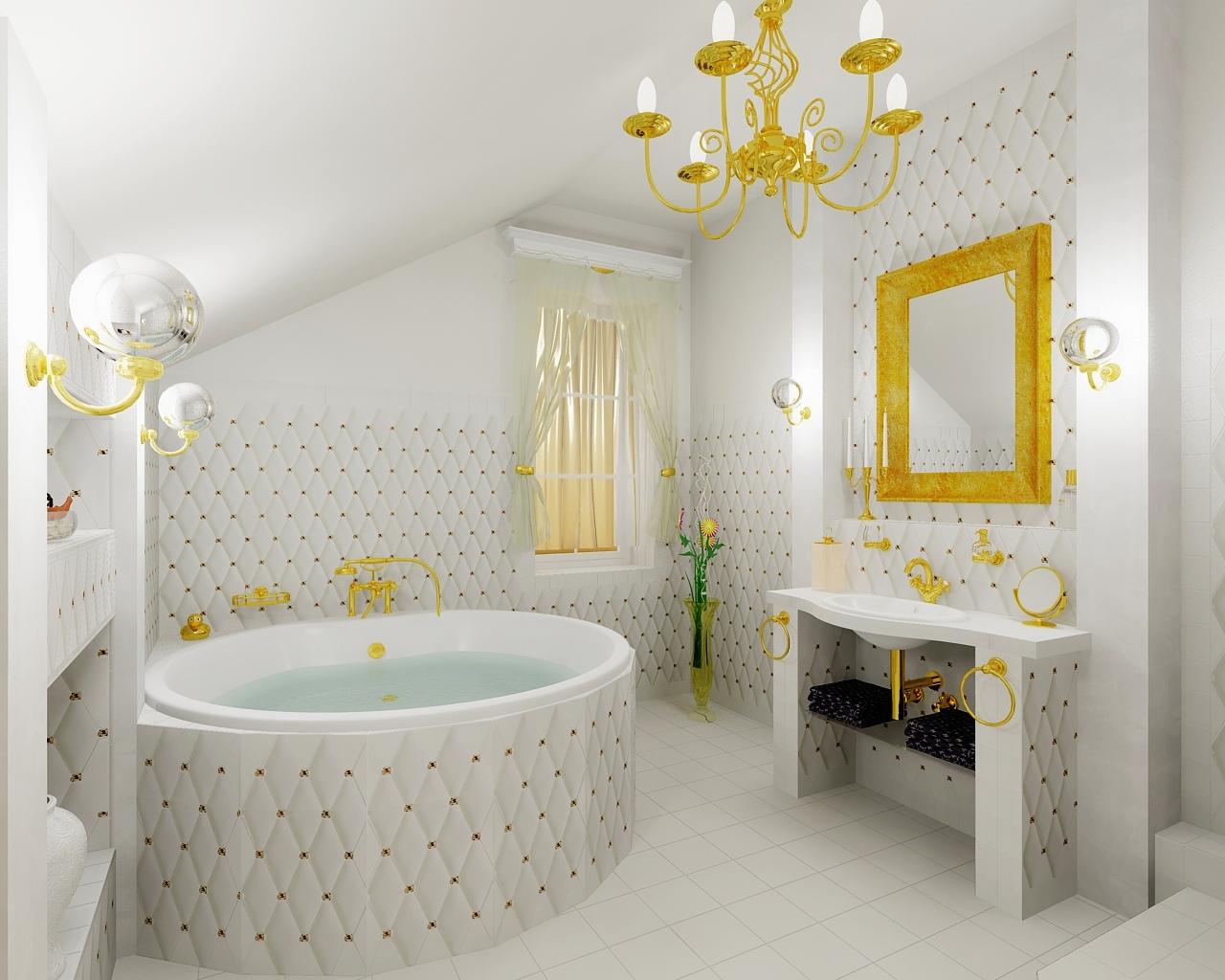 Luxury gold bathroom Bathroom by Tom(Aquastyl.cz) on ViSoft360 Portal