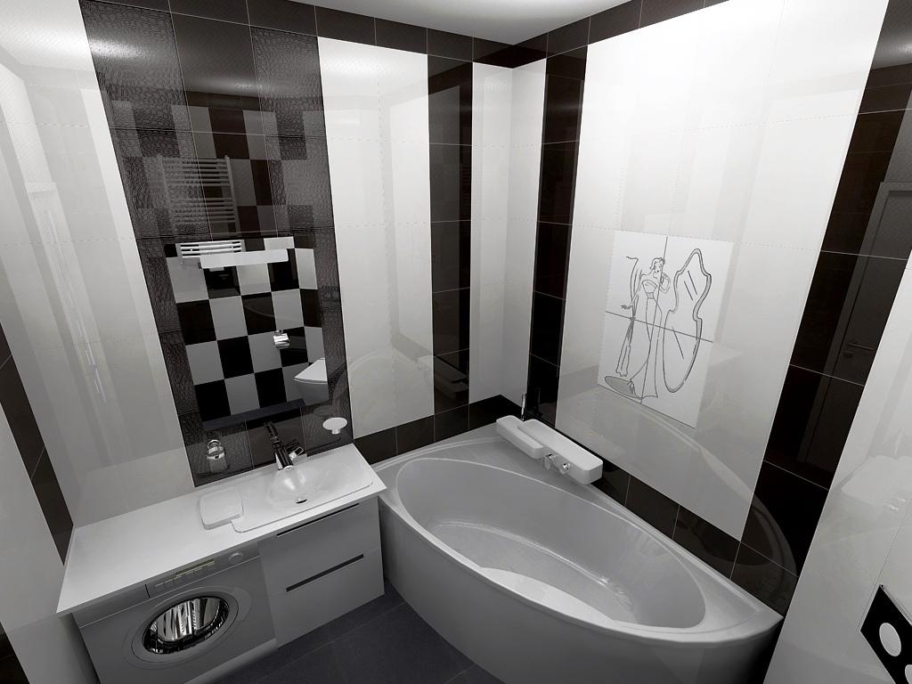 Novabell York Bathroom By Sergey Matsegoras Dom On Visoft360 Portal - Black-and-white-bathroom-york-by-novabell