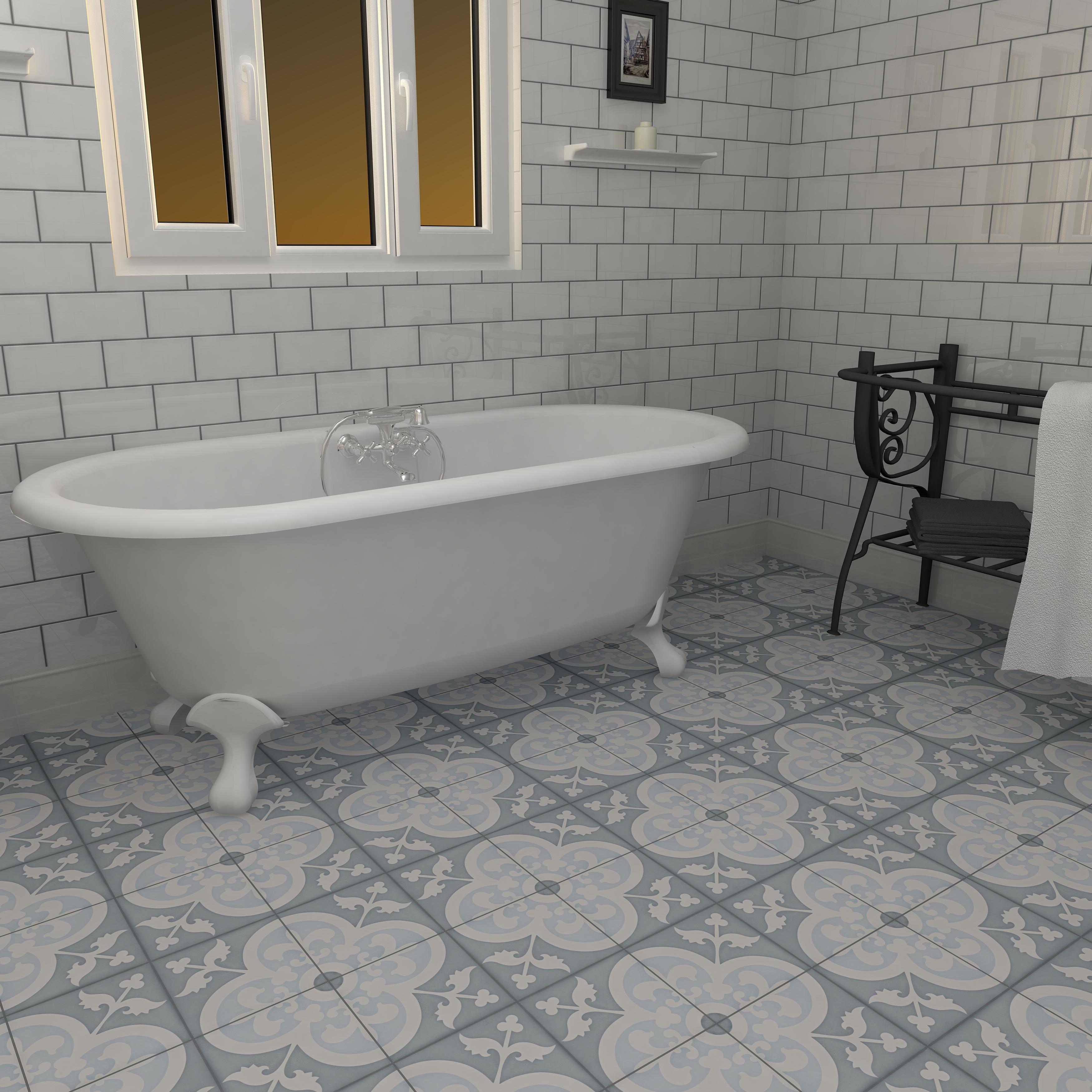 Cement Tile Bathroom By Merola