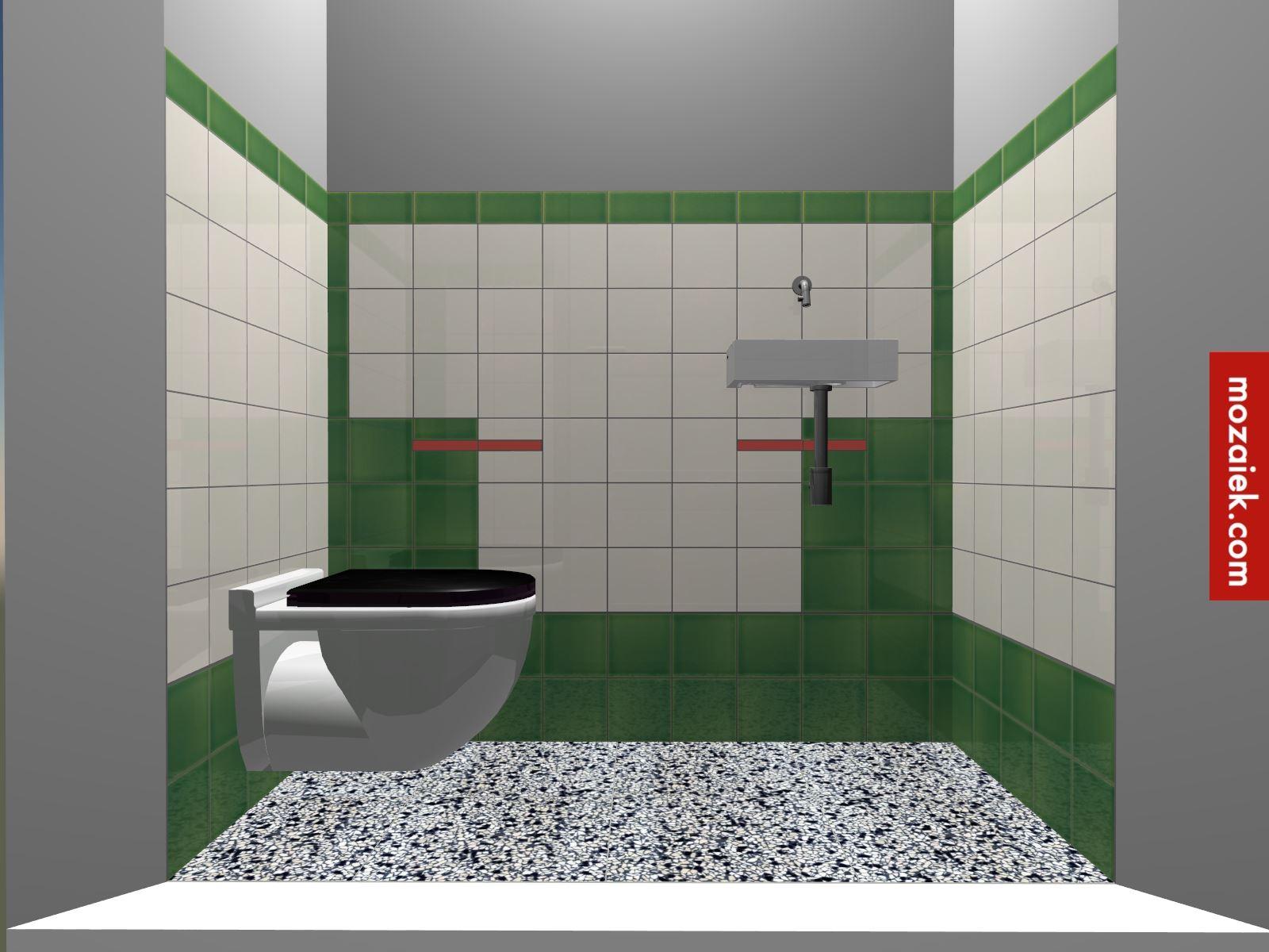 Ongekend tegellambrisering in jaren 30 stijl en granito vloer Bathroom door FI-53