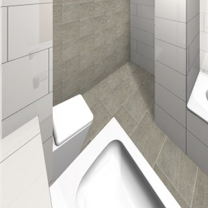 Wei e fliesen gerade wilder verband 02 bathroom by manfred w hrle manfred w hrle - Wilder verband fliesen ...