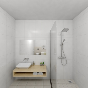 Bathroom Project 33x33 lichtbeige (Jan Groen Tegels)