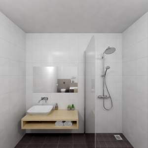 Bathroom Project 33x33 donkergrijs (Jan Groen Tegels)