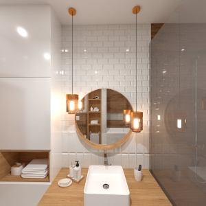 Bathroom White Wooden Bathroom (ViSoft)