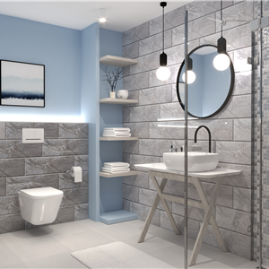 Bathroom VIENA GRIS - SUPER CERAMICA (marinalv)