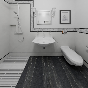 Bathroom Black & white classic style bathroom (Tom)
