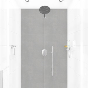 Bathroom Douche tuscany 25x40 wit (Thijs Rietveld)