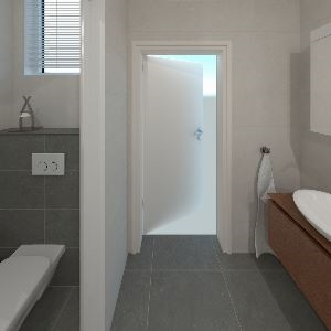Bathroom beren coal & light grey (Thijs Rietveld)