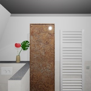 Bathroom C. Smit - ferro brons panorama (Badleven)