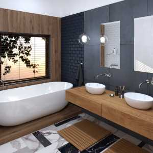 Black and Wood Bathroom_04