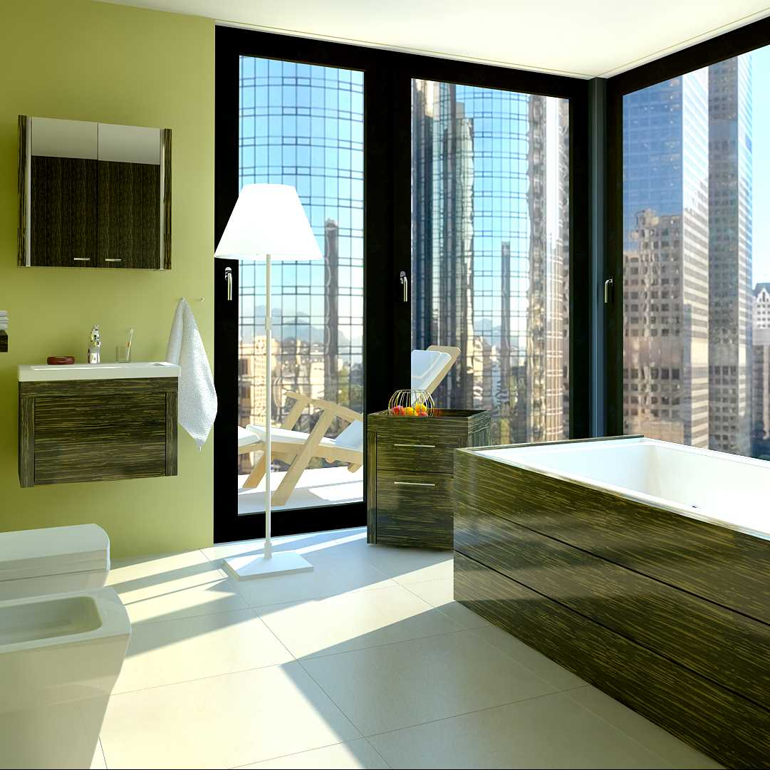 LivingRoom Bath room in the city (Victor Pavlovich)