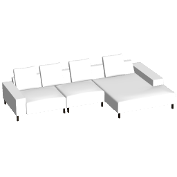 3D Model - White Sofa  (AD AD)