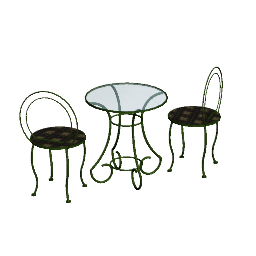 3D Model - Garden table and chairs (Andrew Dyshkant)